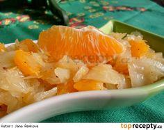 Zelný salát s pomerančem Grapefruit, Cantaloupe, Cabbage, Vegetables, Cabbages, Vegetable Recipes, Brussels Sprouts, Veggies, Sprouts