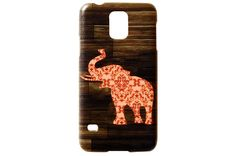 Patterned Elephant Wood Grain Phone Case