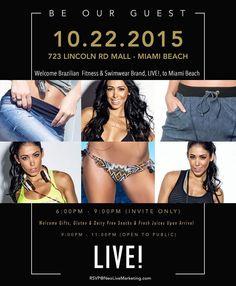 It's Thursday y'all!!! I will be in Miami celebrating the opening of @liveoficial 's store in the USA! Come see me from 9-11 pm at Lincoln Mall in Miami Beach! See you guys there  #TeamLive  _______________  Quinta feira pessoal!!!!! Estarei em Miami celebrando a abertura da primeira loja da @liveoficial nos EUA! Venham me encontrar da 21 às 23h no Lincoln Mall em Miami Beach! Espero vocês lá!!!  by bellafalconi