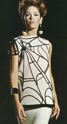 A personal favorite from my Etsy shop https://www.etsy.com/listing/52508712/vintage-1960s-spiderweb-skirt-mod-goth