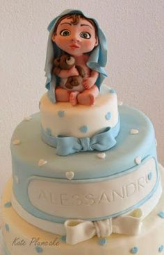 Kate Plumcake - Sugar Art & more - Christening cake