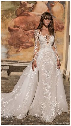 V Neck Wedding Dress, Fit And Flare Wedding Dress, Long Sleeve Wedding, Long Wedding Dresses, Princess Wedding Dresses, Wedding Attire, Bridal Dresses, Wedding Gowns, Romantic Princess
