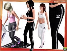 Sims 3 pants, athletics, adidas, bottom, fashion, clothing