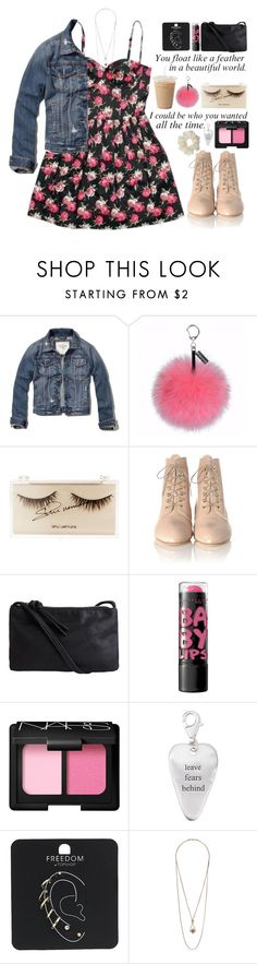 """Untitled #562"" by ccbri ❤ liked on Polyvore featuring Topshop, Abercrombie & Fitch, Helen Moore, shu uemura, Loeffler Randall, Pieces, Maybelline, NARS Cosmetics, Bjørg and Miss Selfridge"