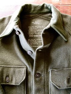 A woolen military shirt. #vintage #military