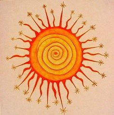 "My yoga novel ""Ashram"" draws on ancient wisdom and practice. I love the playful interpretation of the sun as both a center of energy and its starry reach. As I sit in meditation, I feel something similar occurring."