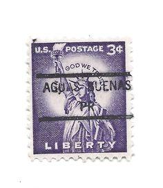 United States Precancel Aguas Buenas Puerto Rico Statue Of Liberty Scott 1035
