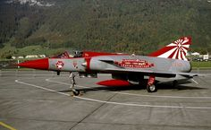 Swiss Air Force Dassault Mirage III (fin no. Aircraft Parts, Fighter Aircraft, Fighter Jets, Military Jets, Military Aircraft, Luftwaffe, Photo Avion, Dassault Aviation, Swiss Air