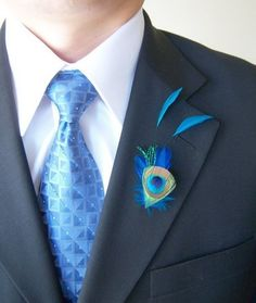 Boutonnieres  Wedding, Green, Blue - Project Wedding