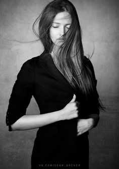 "500px / Photo ""Nadya"" by Sean Archer #photography #blackandwhite #portrait"