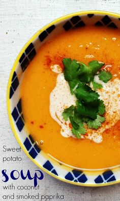 Sweet potato soup with coconut and smoked paprika