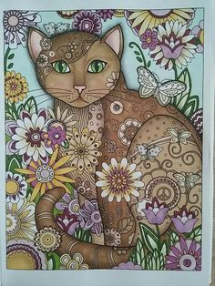 Creative cats 1 -> For the best adult coloring books and writing utensils inclu. Cat Coloring Page, Animal Coloring Pages, Adult Coloring Pages, Coloring Books, Colouring, Creature Drawings, Animal Drawings, Pencil Drawings, Laurel Burch