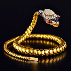 Exquisite Victorian Gold Articulated Snake
