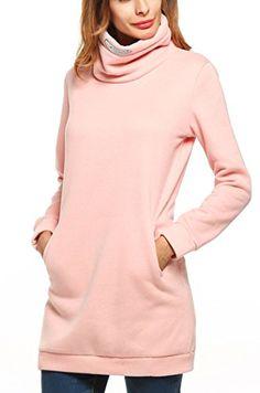9b039033f Halife Long Sweatshirts for Women to Wear With Leggings Plus Size Pink  XLarge ** Details