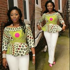 Collection of the most beautiful and stylish ankara peplum tops of 2018 every lady must have. See these latest stylish ankara peplum tops that'll make you stun African Fashion Ankara, Latest African Fashion Dresses, African Print Fashion, Africa Fashion, African Inspired Fashion, Short African Dresses, African Blouses, African Print Dresses, African Prints