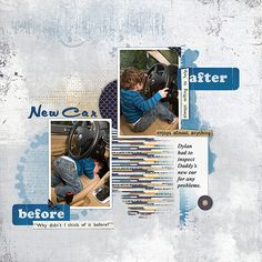 Lynn Grieveson: Hello Happy Template Tate page kit Home Handyman Elements Mess with Ink brushes