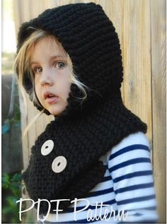 Knitting PATTERNThe Hayleigh Hood 12/18 months by Thevelvetacorn, $5.50
