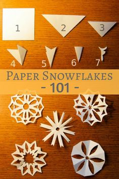 How to cut paper snowflakes -- the traditional classic we all remember from childhood! Fun snow day craft with your kids, therapeutic for adults also (like adult coloring! # cool Teen Crafts Paper Snowflakes How to Cut Paper Snowflakes Paper Snowflakes Easy, Snowflakes For Kids, Paper Snowflake Patterns, Snowflake Cutouts, Snowflake Template, Simple Snowflake, Snowflake Craft, Cut Out Snowflakes, Snowflake Cut Out Pattern