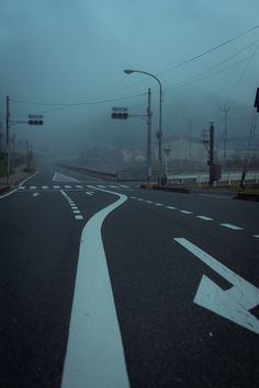 but an empty street, a foggy day. Night Aesthetic, City Aesthetic, Blue Aesthetic, Images Esthétiques, Photo Images, Between Two Worlds, Dark Paradise, Image Hd, Aesthetic Pictures