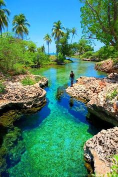 Photo courtesy of Sweet Sweet Jamaica:- Welcome to Gutts River, one of Jamaica's hidden treasures,such a beautiful place. Welcome to Jamaica . I remember Gutts River as a child growing up in Jamaica Places Around The World, Oh The Places You'll Go, Places To Travel, Places To Visit, Vacation Destinations, Dream Vacations, Vacation Spots, Holiday Destinations, Romantic Vacations