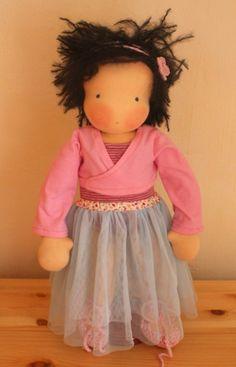 Puppen - Schnitt + Anleitung für Puppenkleiderset Tutu - ein Designerstück von Mariengold bei DaWanda