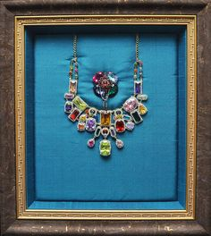 Over-the-top Blingy Korean Necklace and Brooch - S. Korea