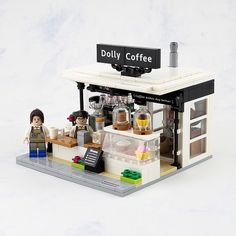 This sidewalk coffee stand by Lego 7 is a perfect blend.
