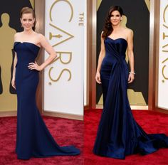 Joining the Navy - Oscars 2014 - Amy Adams in Gucci and Sandra Bullock in Alexander McQueen