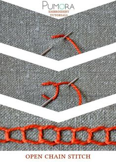 Pumora's embroidery stitch-lexicon: the open chain stitch