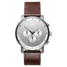 Chrono Silver/Brown Leather