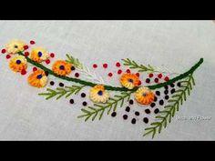 Hand embroidery beautiful design dress, kurti, sari etc I am going to stitch a beautiful hand embroidery today. This beautiful hand embroidery design we can . Basic Embroidery Stitches, Hand Embroidery Videos, Hand Embroidery Flowers, Hand Embroidery Tutorial, Flower Embroidery Designs, Free Machine Embroidery Designs, Embroidery For Beginners, Hand Embroidery Patterns, Embroidery Dress