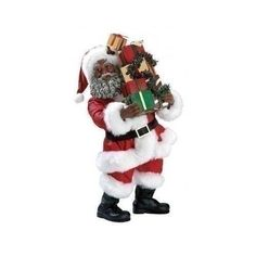 Santa Claus Figurine 10.1 Inch Afro American Christmas Decorations Gifts Vintage  | eBay