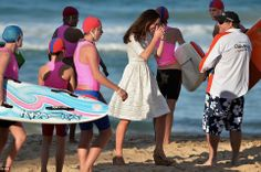 Having a laugh: Kate seemed amused as she joined in the festivities on the sand - and amaz... http://dailym.ai/1r3U1oC#i-a9340e62