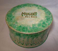 Vintage Coty Dusting Powder Box w/ Puff 'Muguet Des Bois'   eBay