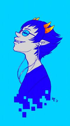 Headcanon: Sollux was always happy with music. It calmed the voices.