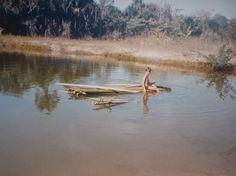 Eu na linda represa da nossa saudosíssima ex fazenda em Gurupi - GO (Hoje Tocantins)