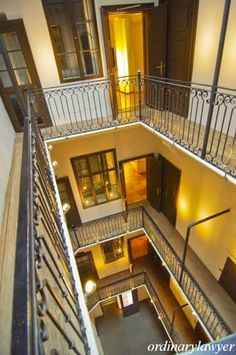 Mozart House Vienna - Looks like the apartment my mom grew up in, in Vienna.  Love the windows looking out into the halls.