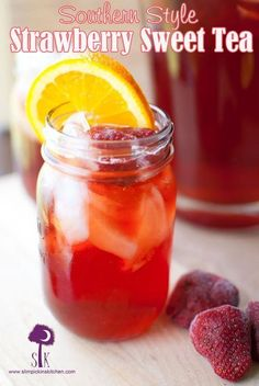 For the Strawberry Simple Syrup 4 cups fresh or frozen strawberries 1 1/2 cups water 1 1/2 cups pure cane or coconut sugar (or sweetener of choice) For the Tea: 3 Luzianne family size tea bags 3 cups water Strawberry Simple Syrup