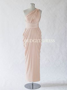 2017 NEW STYLE Nude Blush Multiform Bridesmaids Dress