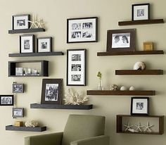 Archetype Espresso Large Wall Box In Frames Ledges Crate And Barrel Living Room