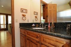 Big Bear Cabin #15 Waterscape Estate 5Bed/4.5 Bath To Book call (310) 800-5454 or click the image! #BigBear #vacation #lake #bathroom
