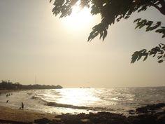 Pôr-do-Sol na praia do Marahú, ilha de Mosqueiro, Pará (Foto: Rebeca Sarges de Lemos/VC no G1)