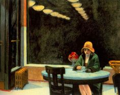 edward hopper automat painting & edward hopper automat paintings for sale. Shop for edward hopper automat paintings & edward hopper automat painting artwork at discount inc oil paintings, posters, canvas prints, more art on Sale oil painting gallery. Edouard Hopper, Edward Hopper Paintings, Oeuvre D'art, American Artists, American Realism, Les Oeuvres, Light In The Dark, Art History, History Pics