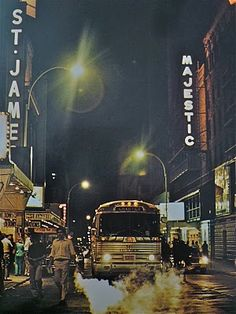Times Square's W. 44th Street big old metal chartered bus.