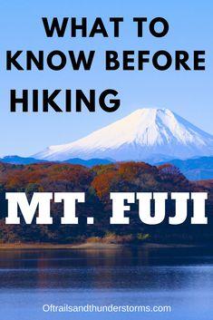 Tips on hiking Mt. Fuji for beginners.