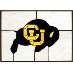 University of Colorado Buffaloes Stained Glass Window Hanging