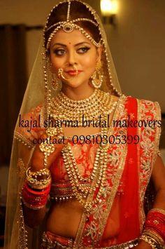 Royal indian bridal look by kajal sharma...