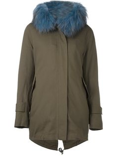 FORTE COUTURE Fur Trimmed Hooded Parka. #fortecouture #cloth #parka