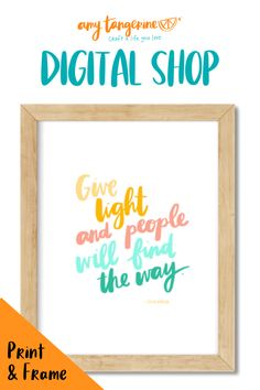 NEW Printable Amy Tangerine colorful quotes from the Digital Shop. Download, print and frame these positive quotes as colorful wall art for your home office or any where in your home! #amytangerine #quotes #printables Colorful Quotes, Colorful Wall Art, Creative Lettering, Brush Lettering, Tangerine Quotes, Printing Services, Online Printing, Rainbow Quote, Wall Art Prints