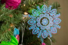 Easy Elegant Christmas Ornament | AllFreeChristmasCrafts.com